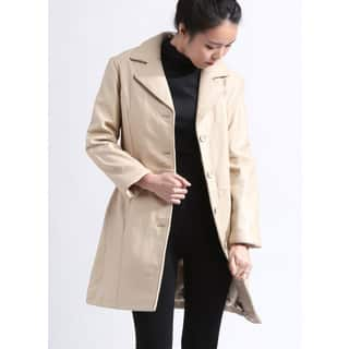 Tanners Avenue Women's Beige Lambskin Leather Walker Jacket|https://ak1.ostkcdn.com/images/products/13218340/P19936524.jpg?impolicy=medium