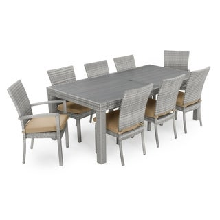 Cannes 9pc Dining Set in Maxim Beige by RST Brands