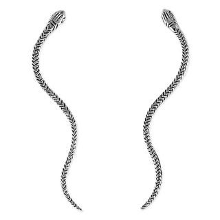 Handcrafted Sterling Silver 'Winding Snakes' Earrings (Thailand)