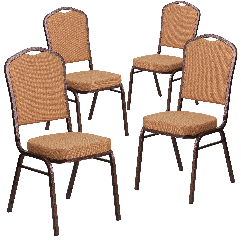 4 Pk Hercules Series Crown Back Stacking Banquet Chair