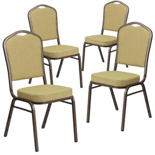 4 Pk. HERCULES Series Crown Back Stacking Banquet Chair