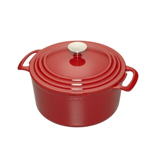 Cooks 7 Quart Red Enameled Cast Iron Dutch Oven