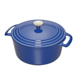 Cooks 7 Quart Blue Enameled Cast Iron Dutch Oven