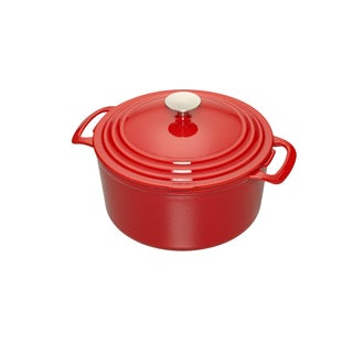 Cooks 5.5-Quart Red Enameled Cast-iron Dutch Oven