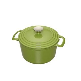 Cooks 5.5-Quart Green Enameled Cast Iron Dutch Oven