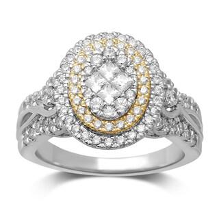 Unending Love 10k Two-Tone Gold 1 1/2ct TDW Diamond Engagement Ring