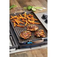 Anolon Advanced Bronze Hard-Anodized Nonstick 10-Inch x 18-Inch Double Burner Griddle and Grill Pan with Pour Spout