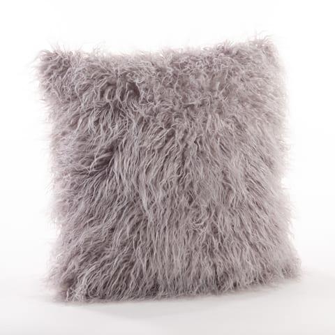 Mongolian Faux Fur Decorative Throw Pillow