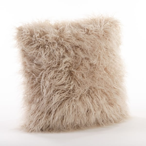 Mongolian Faux Fur Throw Pillow On Sale Overstock 13218518