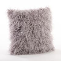 Mongolian Faux Fur Decorative Throw Pillow
