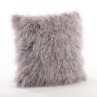 Mongolian Filled Faux Fur Throw Pillow