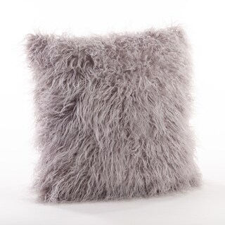 Mongolian Filled Faux Fur Throw Pillow (More options available)