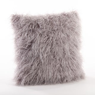 Poly Filled Mongolian Faux Fur Throw Pillow