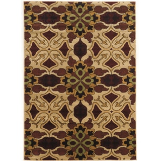 Power Loomed Elegance Liliy Brown beige Polypropylene Rug (8' X 10')