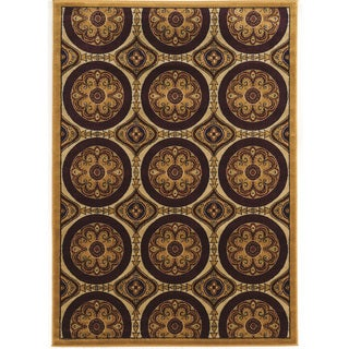 Power Loomed Elegance Clara Brown beige Polypropylene Rug (8' X 10')