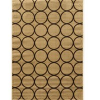 Power Loomed Elegance Multi Circles Cream Polypropylene Rug (8' X 10') - 8' x 10'