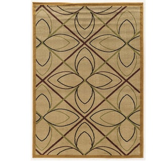 Power Loomed Elegance Double Star Cream Polypropylene Rug (8' X 10')