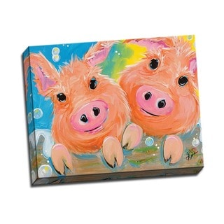 Picture It on Canvas 'Pig Duo' 20-inch x 16-inch Wrapped Canvas