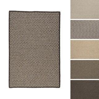 Crisscross All-Natural Wool Braided Rug (8'x11')