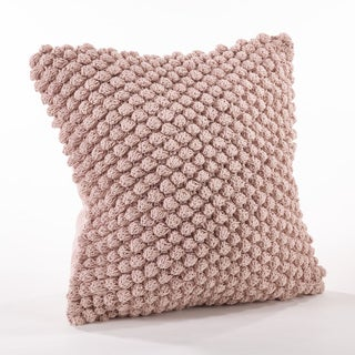 Crochet Pompom Throw Pillow
