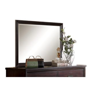 Acme Furniture Raleigh Cherry Framed Beveled Mirror
