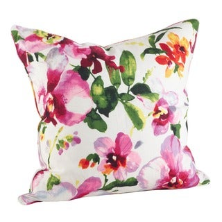Printed Floral Down Filled Throw Pillow