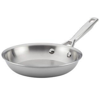 Anolon Tri-Ply Clad Stainless Steel French Skillet/Fry Pan, 8.5-Inch
