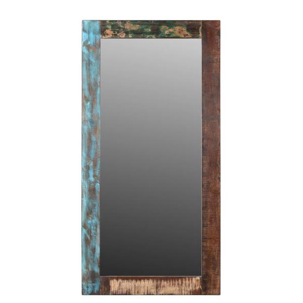 "Handmade Agra Old Wood Mirror - 30"" x 60"" x 1.5"" (India)"
