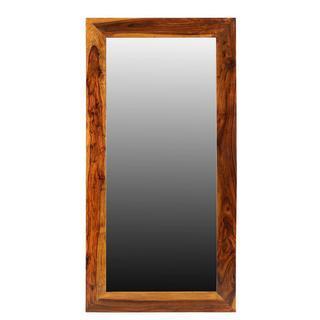 Handmade Agra Seesham Wood Mirror (India)