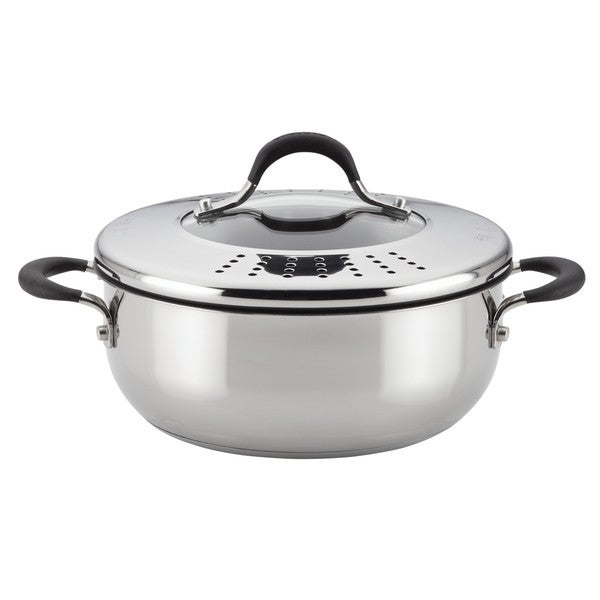 Circulon Momentu Stainless Steel Nonstick 4 Quart Covered