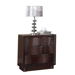 Acme Furniture Travell Walnut 3-drawer Nightstand with Charging Dock