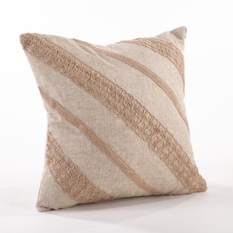 Textured Stripe Throw Pillow