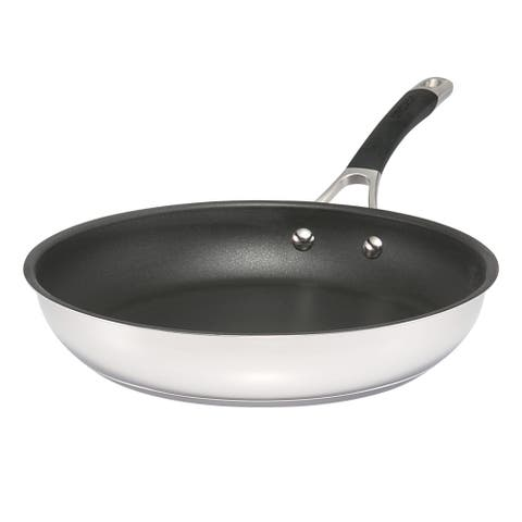 Circulon Momentum Stainless Steel Nonstick French Skillet, 11.5-Inch
