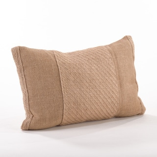 Textured Jute Throw Pillow