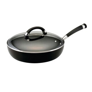 Circulon Espree Hard-Anodized Nonstick 12-Inch Covered Deep Skillet, Black