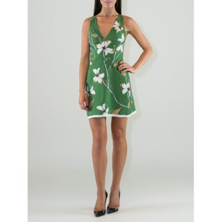 Women's Floral Design V-neck Sheath Dress (5 options available)