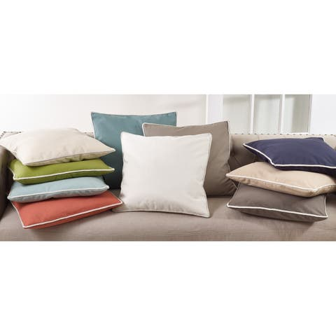Cord Trim Solid Throw Pillow