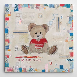 Picture It on Canvas 'Teddy Bear Cuddles' Canvas Wall Art