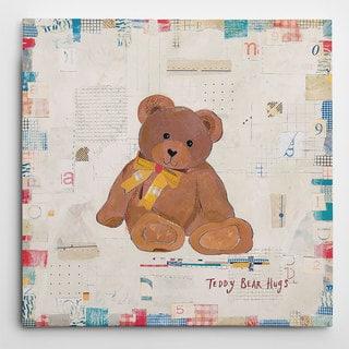 Wexford Home 'Teddy Bear Hugs' Multicolored Canvas Artwork