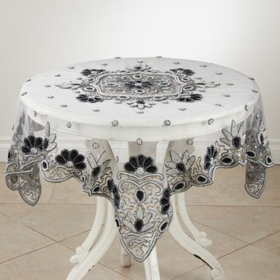 Hand Beaded Design Tablecloth