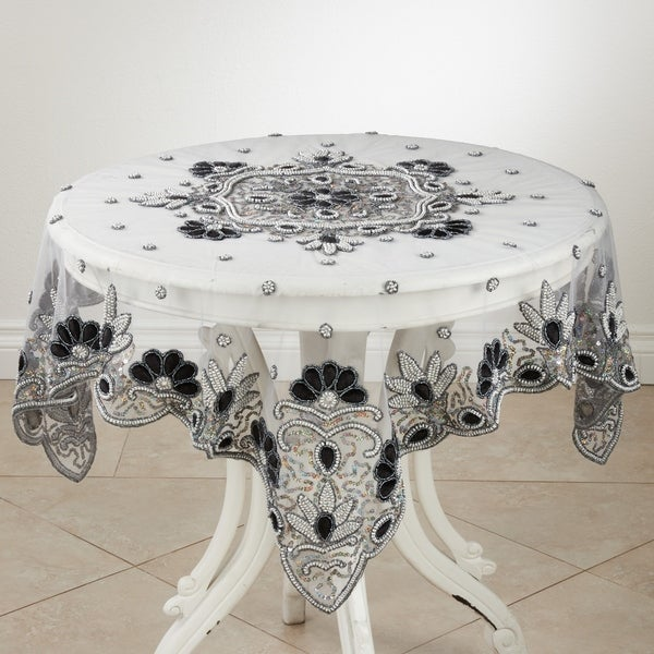 Hand Beaded Design Tablecloth. Opens flyout.