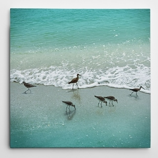 Wexford Home 'Sandpiper Beach Party' Wrapped Canvas Art