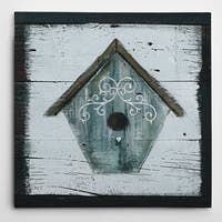 Wexford Home 'Stained Birdhouse' Premium Gallery Wrapped Canvas