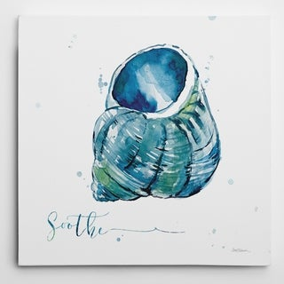 Wexford Home Carol Robinson 'Blue Shell Soothe' Wrapped Canvas Art