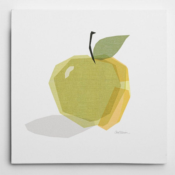 Wexford Home Green Linen Apple Gallery-wrapped Canvas