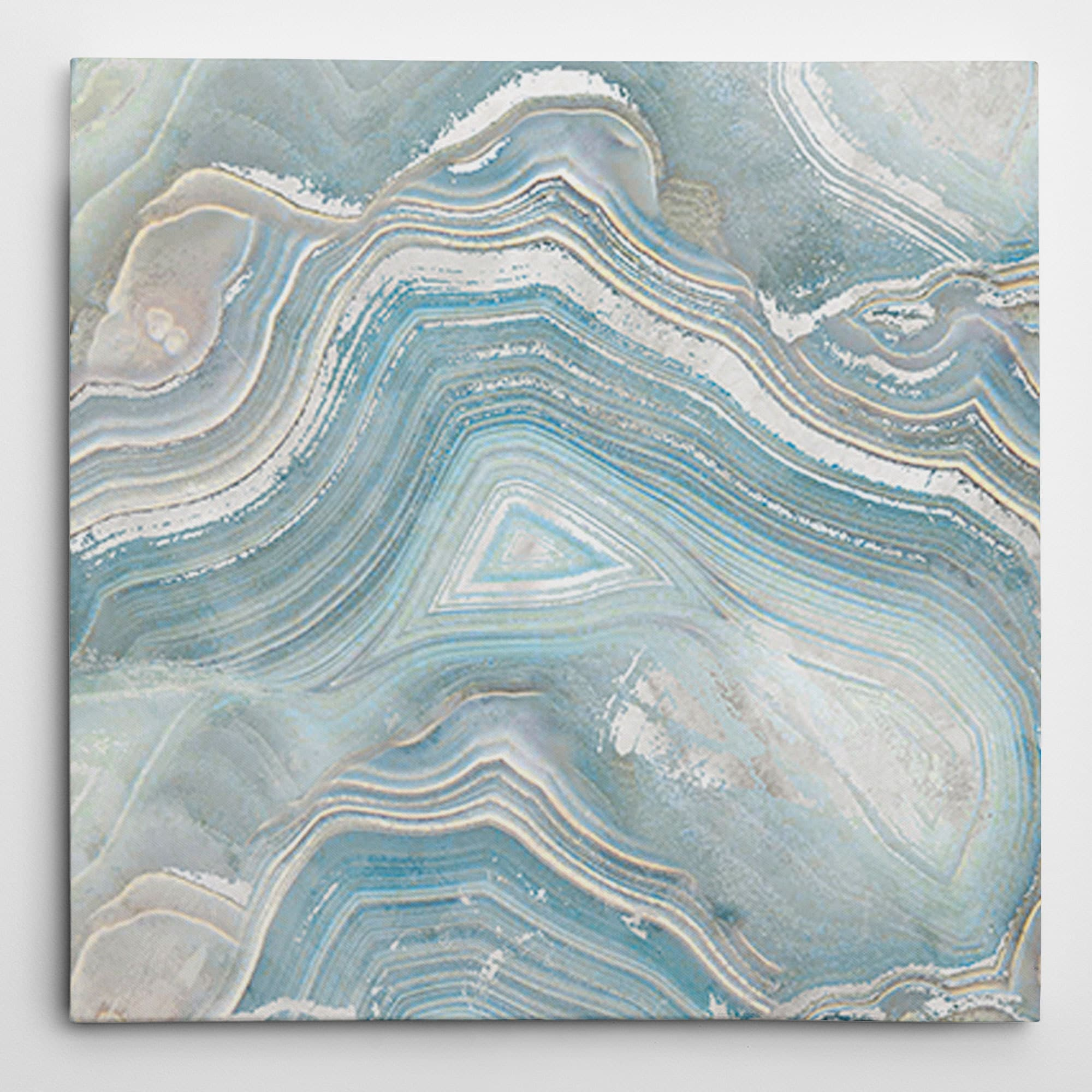 Porch & Den Agate in Blue I' Premium Gallery Wrapped Canvas Wall Art