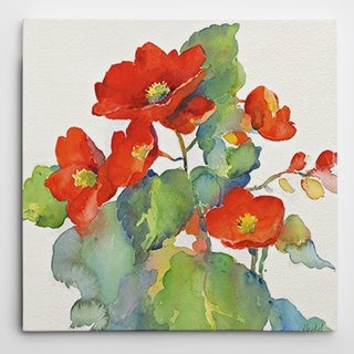 Wexford Home 'Begonia II' Gallery-wrapped Canvas Wall Art