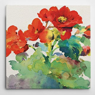 Wexford Home 'Begonia I' Multicolored Gilee Canvas Artwork