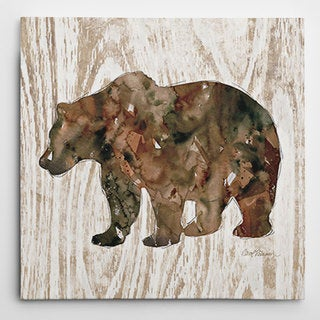 Wexford Home Carol Robinson 'Pine Forest Bear' Wrapped Canvas Art