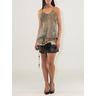Gold/Brown Snakeskin Print Dress